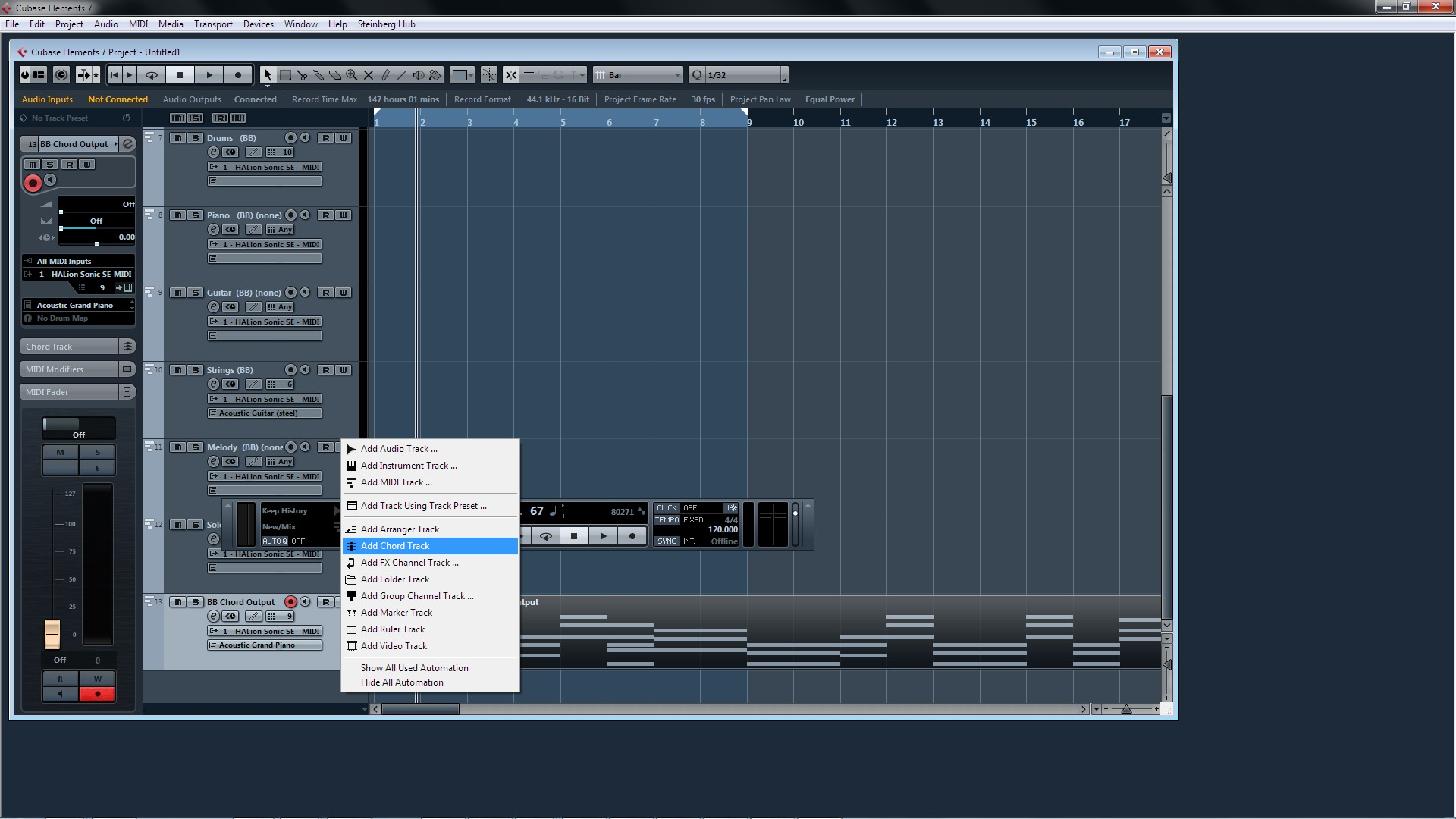 BB Chord Output to Cubase - PG Music Forums
