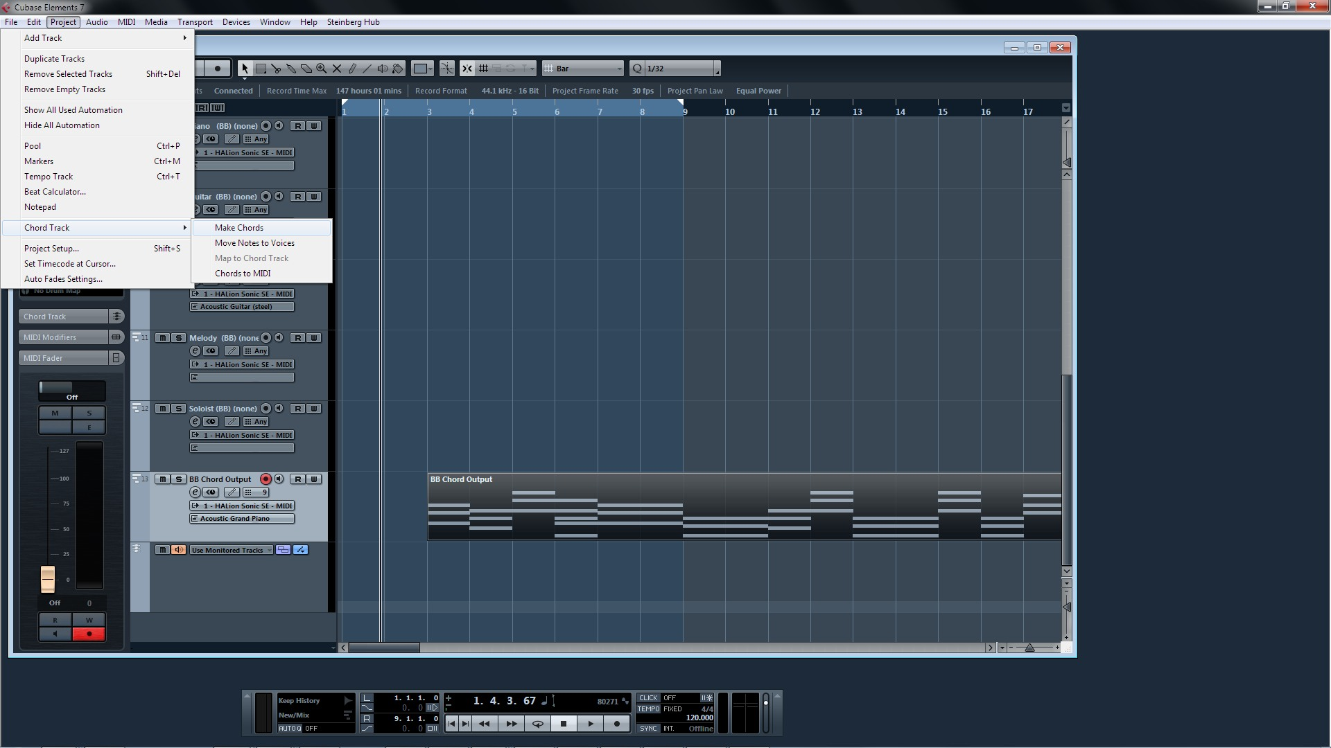 Bb Chord Output To Cubase Pg Music Forums