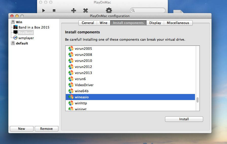 Running RealBand on Mac with PlayOnMac - PG Music Forums